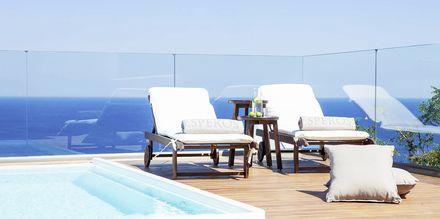 Dobbeltværelse med privat pool på Hotel Esperos Village Blue & Spa på Rhodos, Grækenland