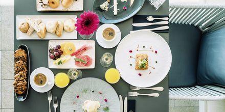 Morgenmad på Hotel Europe Playa Marina på Mallorca, Spanien.