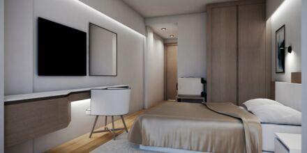 Dobbeltværelse på Hotel Evalena Beach i Fig Tree Bay, Cypern.