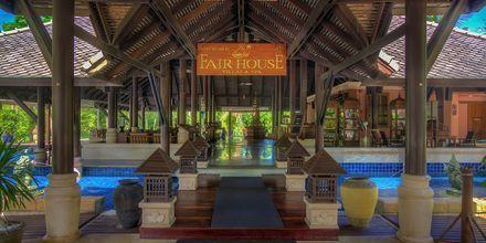 Entréen til Fair House Villas & Spa på Koh Samui i Thailand.