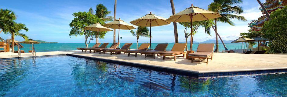 Poolområde på Fair House Villas & Spa på Koh Samui i Thailand.