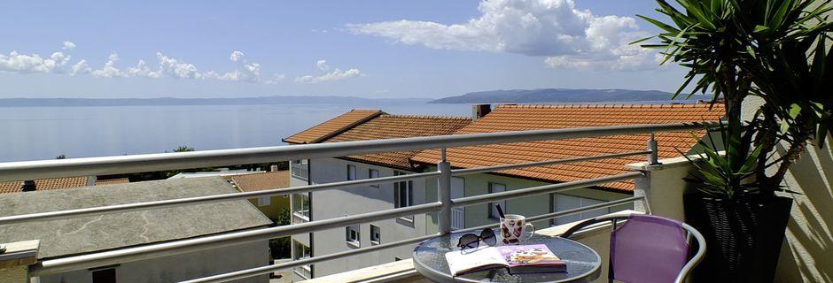Udsigt fra Hotel Fani i Makarska, Kroatien.