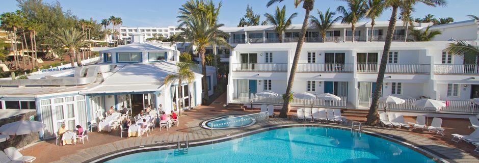 Poolområdet på Hotel Fariones Apartamentos, Lanzarote, De Kanariske Øer