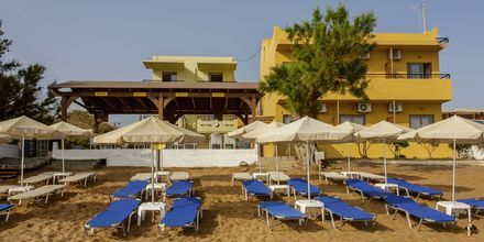 Stranden ved hotel Faros i Kato Stalos, Kreta