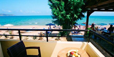 Balkon på hotel Faros på Kreta, Grækenland.