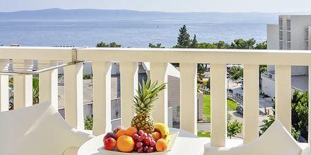 Udsigt fra Hotel Flora i Tucepi, Kroatien