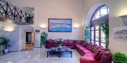 Reception på Hotel Fortezza i Rethymnon på Kreta, Grækenland