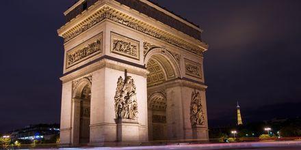 Triumfbuen i Paris, Frankrig.