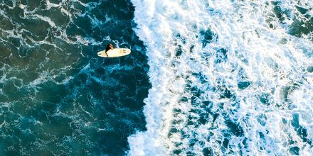 Surf på La Pared, Fuerteventura.