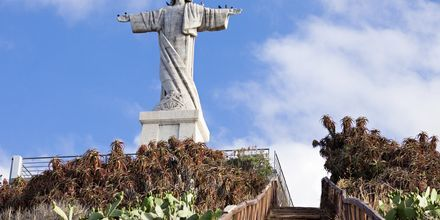 Jesus-statue i Funchal på Madeira, Portugal.