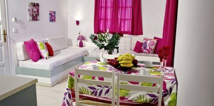 2-værelses lejlighed på Hotel Galini i Malia på Kreta.