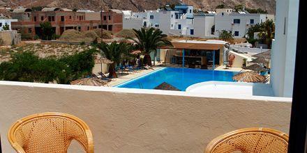 Skøn udsigt på hotel Gardenia på Santorini, Grækenland.