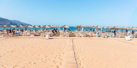Stranden i Georgioupolis på Kreta i Grækenland.