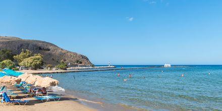 Strand i Georgioupolis på Kreta i Grækenland.