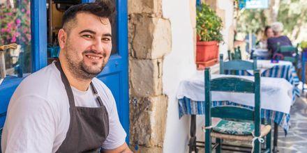 Frokost i Georgioupolis på Kreta i Grækenland.