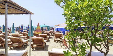Stranden ved Germany Hotel, Durres Riviera i Albanien.