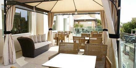 Loungecafé på Hotel Golden Beach i Hersonissos på Kreta, Grækenland.