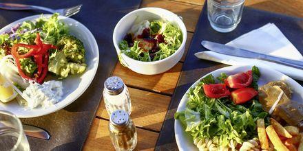 Restaurant på Hotel Golden Beach i Hersonissos på Kreta, Grækenland.