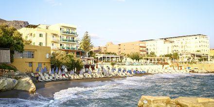 Stranden ved Hotel Golden Beach i Hersonissos på Kreta, Grækenland.