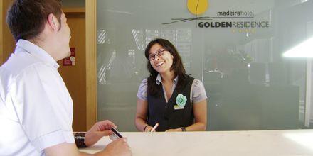 Reception på Golden Residence på Madeira, Portugal.