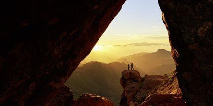 Smuk udsigt ud over bjergene