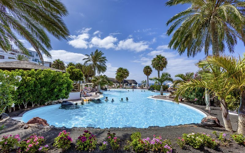 Poolområde på Gran Castillo Resort på Lanzarote, De Kanariske Øer
