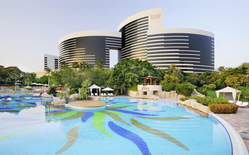 Hotel Grand Hyatt i Bur Dubai, Dubai.