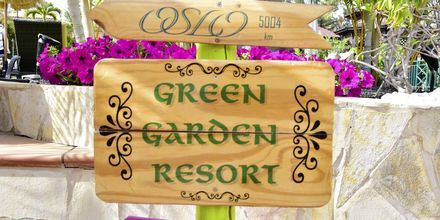 Have på hotel Green Garden Resort på Tenerife, De Kanariske Øer, Spanien.
