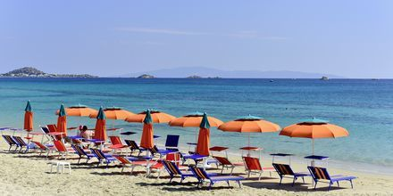 Nærmeste strand, Plaka Beach, på Naxos.