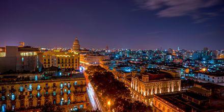 Havanna by night på Cuba.