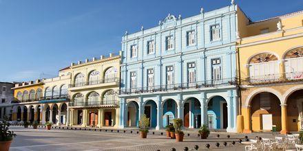 Plaza Vieja i Havanna, Cuba.