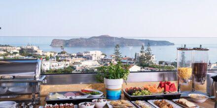 Morgenmadsbuffet på Hotel Hermes på Kreta.