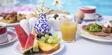 Tilkøb morgenmad på Hotel Hermes på Kreta.