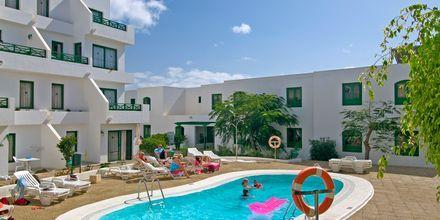Poolområde på Hotel HG Lomo Blanco på Lanzarote, De Kanariske Øer.