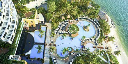 Poolområde på Hilton Hua Hin Resort & Spa, Thailand.
