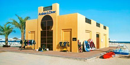 Dykkercenter på Hotel Hilton Ras Al Khaimah Resort & Spa i Ras Al Khaimah, De Forenede Arabiske Emirater.