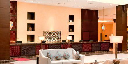 Lobbyen på Hotel Hilton Ras Al Khaimah Resort & Spa i Ras Al Khaimah, De Forenede Arabiske Emirater.