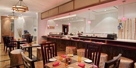 Restaurant Al Bahar på Hotel Hilton Ras Al Khaimah Resort & Spa i Ras Al Khaimah, De Forenede Arabiske Emirater.