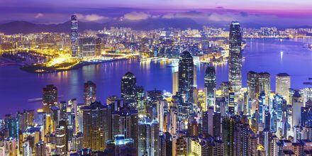 Oplev den fantastiske skyline når du rejser til Hong Kong.