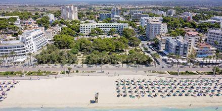 Strand ved Houm Plaza Son Rigo i Playa de Palma, Mallorca.