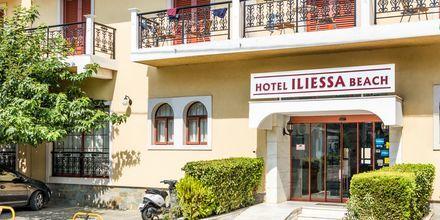 Indgang til Hotel Iliessa Beach i Argassi, Zakynthos