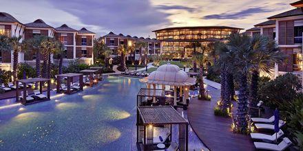 Poolområde på Hotel Intercontinental Hua Hin Resort i Hua Hin, Thailand.