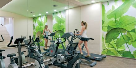 Fitnessrum på Hotel Iolida Star på Kreta, Grækenland.
