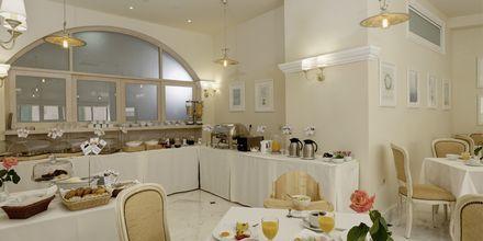 Morgenmadssalen på hotel Ionia Suites i Rethymnon på Kreta.