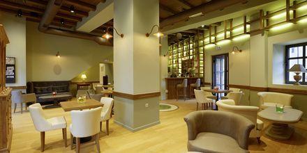 Lobbybaren på hotel Ionia Suites i Rethymnon på Kreta.