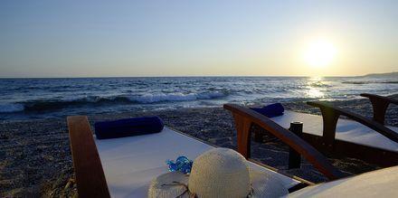 Stranden ved hotel Ionian Theoxenia i Kanali, Grækenland
