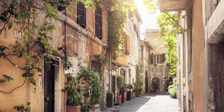 Smalle stræder i bydelen Trastevere i Rom.