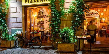 Hyggelig restaurant i Rom.