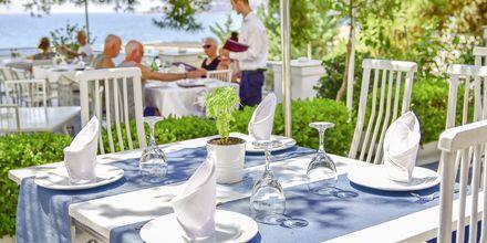 Restaurant på Hotel Jaroal i Saranda, Albanien.
