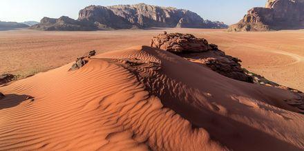 Ørkenlandskabet Wadi Rum, Jordan